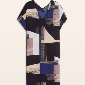 Aritzia Babaton Abstract Print 'Jessie' Dress